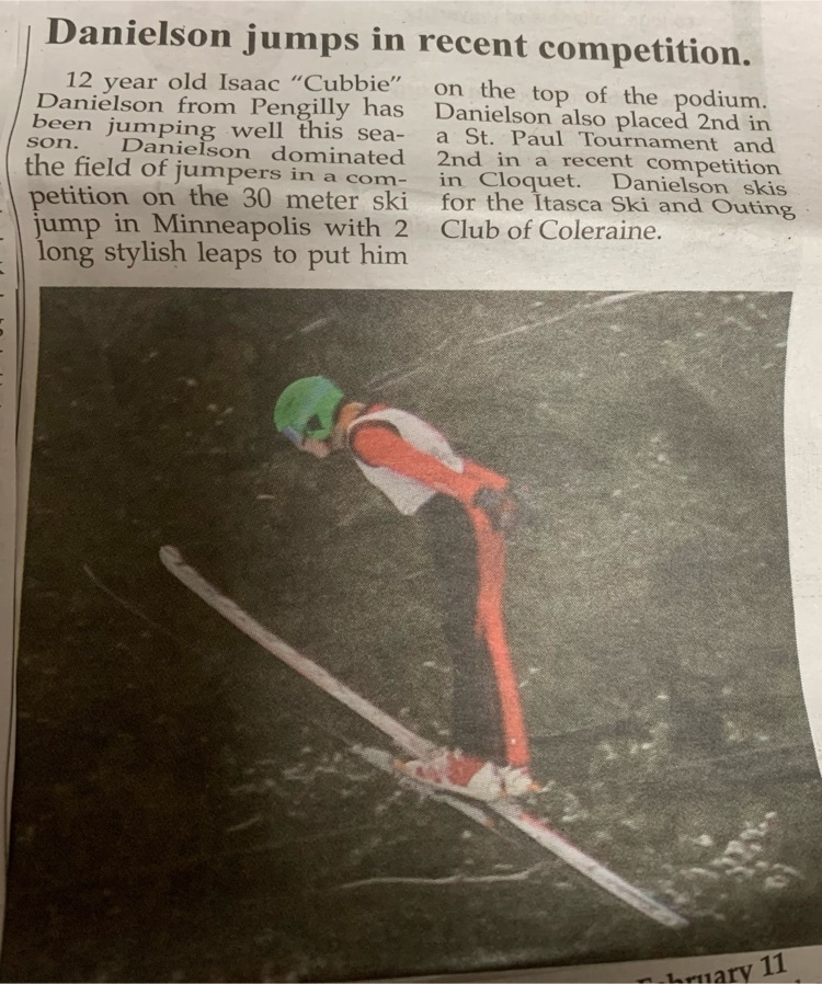 Isaac ski jumper article