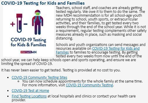 testing for kids and families