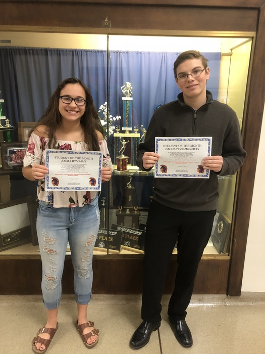 NKHS Students of the Month for November 2018!