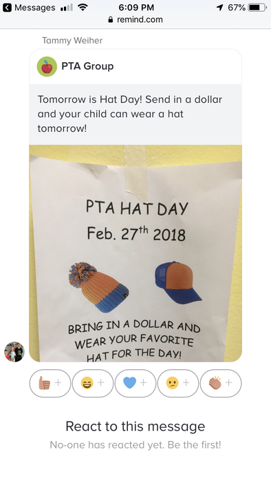 Pta hat day
