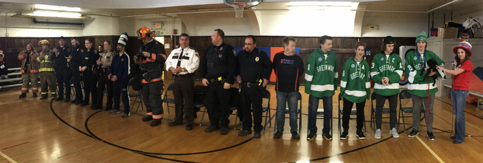 First responders and other local heroes.