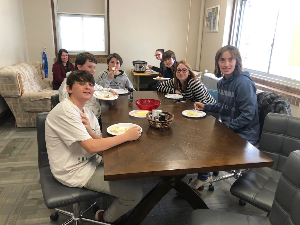 The cooking club students were able to treat the staff and themselves with their feast today!